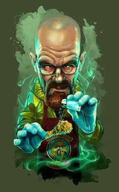 Walter White by Oscar Tello Martín in Madrid, Spain Available on Design By Humans: v1 (above), v2 - blue