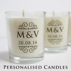 Wedding Favours : Personalised Candles …