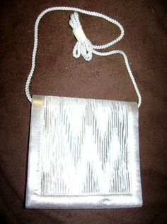 SALE Silver lame shoulder bag shoulder by SkyAccessoryBoutique, $11.00