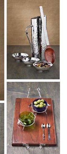Dinnerware Depot - Dinnerware Sets, Fine China, Dishes, Tableware and Free Shipping! - Mary Jurek Design Hand-Hammered Stainless Steel