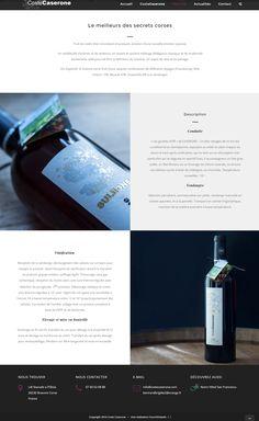 Création du site Coste Caserone (domaine viticole en Corse) par Fourmi Volante. www.costecaserone.com #shootingphoto #vin et création d'un site vitrine #wordpress #responsivedesign.
