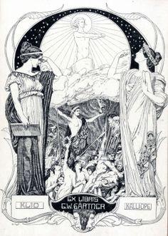 Bookplate by Franz Stassen for G. Occult Art, Lost Art, Children's Book Illustration, Art Images, Mythology, Illustrators, Fantasy Art, Drawings, Prints