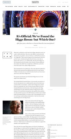 Scientific American, the venerable old brand, gets transformed into a cutting-edge editorial platform for the Century. Website Design Inspiration, Blog Website Design, Blog Design, News Web Design, Web Design Trends, Page Design, Portal, Layout Online, Minimal Web Design