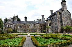 """I wanna go here! """"This is Gwydir Castle in Wales. We spent one night here in the 'King's Bedroom' in a 4 poster bed with breakfast in the Breakfast Parlour overlooking the knot garden and the resident peacocks. The owners are passionate about their home and have spent many years restoring it. It is just magnificent"""" - by Leanne Cole"""