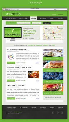 Local Foodie by Piotr Kmita, via Behance