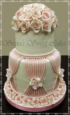 Wedding Rose Cake by lilia