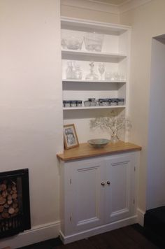 Finished Upper Section of DIY Alcove Cupboard