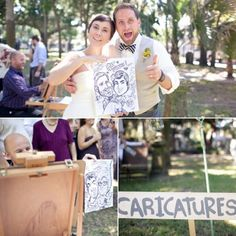 Hire A Caricature Artist     Capture the essence of your big day (with a touch of whimsy) through a live, on-the-spot caricature artist – guests of all ages will love the artistic attention.      Photography by  Ben Sasso . Image via  Ruffled .