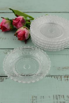 Glass Candle Plates 5in (Set of 6)
