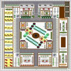 Garden Plot Ideas which direction to face garden beds Plan For A Church Community Garden Plot