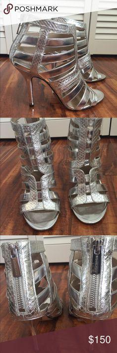 Michael Kors Snakeskin Heels Super cute, genuine snakeskin heels by Michael Kors.  NWOT, never worn item, with flaws.  Gorgeous shoe! MICHAEL Michael Kors Shoes Heels