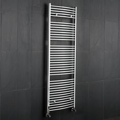 "Chrome Bathroom Curved Heated Towel Radiator Rack 71"" x 23.5"""