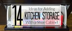 Do you struggle with cabinet space in your kitchen? Do you wish you had more storage space so you could be more organized? If so, this is a must read!