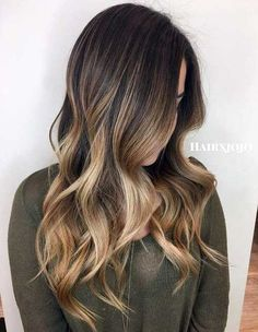 50 Ideas for Light Brown Hair with Highlights and Lowlights Bronde Ombre Balayage Pour Cheveux Bruns Dark Brown Hair With Blonde Highlights, Brown Hair Balayage, Hair Color Balayage, Hair Highlights, Bronde Balayage, Partial Highlights, Color Highlights, Balayage Hair Brunette With Blonde, Bayalage Light Brown Hair