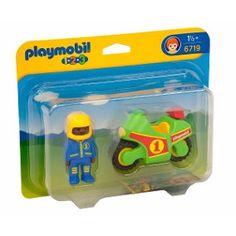 Boneco Com Moto Radical Original Playmobil 123 Ref 6719
