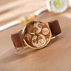 Five Continents Map Wrist Watch Mens Unisex Watch Women Watches