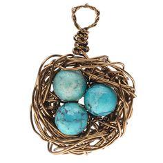 Tutorial - How to: Wire Bird's Nest Charm | Beadaholique
