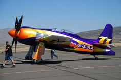 Rare Bear is a highly-modified Grumman F8F Bearcat that dominated the Reno Air Races for decades.