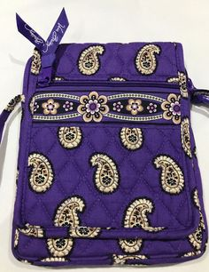 Details about Vera Bradley Mini Hipster Crossbody Bag Simply Violet Retired  Pattern Purse 1224888d9a949