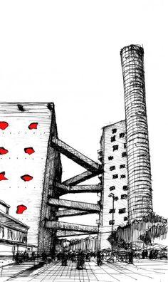 Arte y Arquitectura: Croquis por Fabricio Contreras Ansbergs (4)