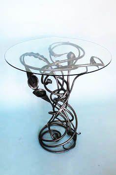 contemporary Organic Wrought Iron Table