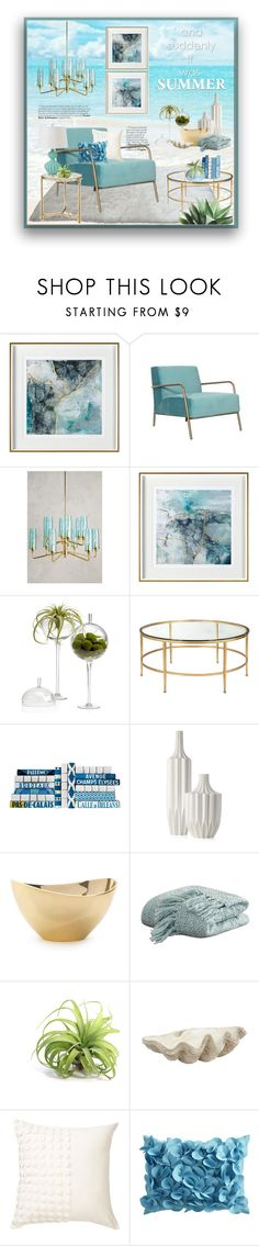 """""""Crystal Blue Water, Sand & Sun"""" by ollie-and-me ❤ liked on Polyvore featuring interior, interiors, interior design, home, home decor, interior decorating, Anthropologie, Vanessa Mitrani, Jayson Home and Nordstrom Rack"""