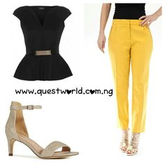 New Arrivals #top #trousers #heels www.questworld.com.ng Nationwide Delivery. Pay on delivery (lagos). Visit us @suite b20 primal tek plaza akowonjo lagos