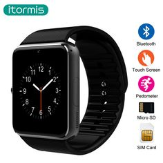 Cut Price $13.64, Buy itormis bluetooth Smart Watch Clock Smartwatch wearable devices SIM TF Card Camera Push Message Android Phone GT08 PK A1 DZ09
