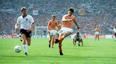 Holland 3 England 1 in 1988 in Dusseldorf. Marco Van Basten scores on 44 minutes in Group B at Euro '88. 1-0 Holland.