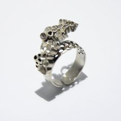 Modern arch circles sterling silver ring by JRajtar on Etsy