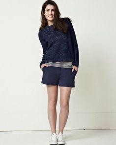 MISS GREEN Jennifer Blue Pullover|MISS GREEN Jennifer Blauwe Pullover | Supergoods Ecodesign & Fair Fashion