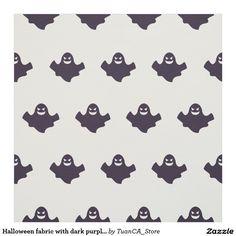 Halloween fabric with dark purple ghosts