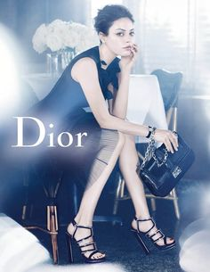 New Retro #Dior Ads featuring Mila Kunis