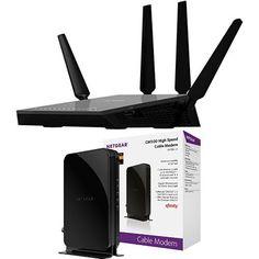 NETGEAR Nighthawk X4 Ultimate Gaming Router – AC2350 4X4 MU-MIMO Dual Band & NETGEAR CM500 (16×4) Cable Modem DOCSIS 3.0… #deals