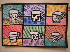 POP ART  The 4th Grade students learned about Pop Art, which is short for Popular Art. Pop art started in the 1950's as a reaction to Abstract Art. Pop artists did not care for abstract art; they wanted to produce art that actually looked like something. So Pop Artists starting producing art that contained consumer products, comics, mass media and advertising. We looked at various examples of pop art and focused on the work of Andy Warhol. Andy Warhol liked to take one image or screen print…