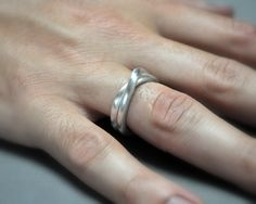 Men's Infinity Ring. Sterling Silver. Modern by Epheriell on Etsy, $147.00