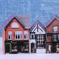 Make N Scale (1:144)  Christmas or Glitter Villages From Printables: Three Miniature Village Shops Tiny Micro or N Scale Printable Buildings