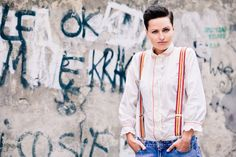 Shorts suspenders for women, suspenders with stripes, Striped Women Braces, Reversible Suspenders, Girlfriend Gift, wide suspenders by baboshkaa on Etsy