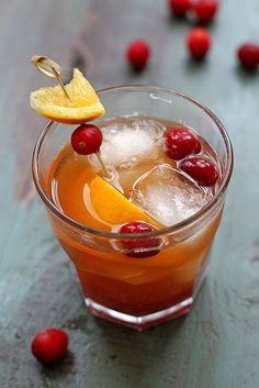 Cranberry Old-Fashioned Cocktail | girlversusdough.com