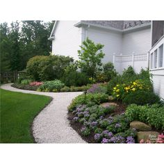 Gravel walkway along flower beds | The Pattie Group, Inc. | Cleveland, OH | www.pattiegroup.com