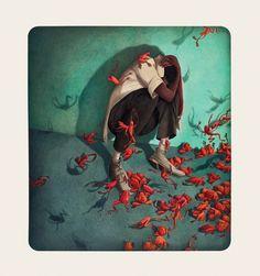 Rebecca Dautremer - Illustration - Une Bible - Plaie aux Grenouilles