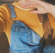 Latest Fashion Trends - I can't wait to change the wardrobe this winter. - Luxe Fashion New Trends - Fashion for JoJo Tumblr Outfits, Mode Style, Style Me, Estilo Retro, Mellow Yellow, Orange Yellow, Yellow Top, Looks Cool, Look Fashion