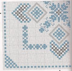 ........................................ ........................................ . Hardanger Embroidery, Hand Embroidery Stitches, Cross Stitch Embroidery, Embroidery Patterns, Knitting Patterns, Cross Stitch Borders, Cross Stitch Patterns, Chicken Scratch Embroidery, Drawn Thread