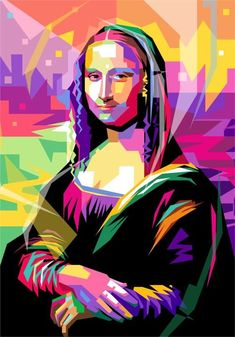 Mona Lisa By Leonardo Da Vinci Transform To Wpap Pop Art Art Print by Ahmad Nusyirwan. All prints are professionally printed, packaged, and shipped within 3 – 4 business days. Choose from multiple sizes and hundreds of frame and mat options. Portraits Pop Art, Arte Pink Floyd, Art Du Monde, Mona Lisa Parody, Inspiration Art, Furniture Inspiration, Art Drawings, Pop Art Drawing, Art Projects