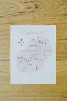 Adorable custom wedding map! (Photo by Lauralyn Savannah Photography)
