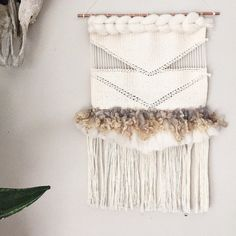 Soumak Weaving // Woven Wall Hanging // by wildcolumbinetextile