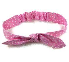 Adjustable knotted pre-tied hair wrap for babies, girls and women - Bandeau ajustable à noeud pour bébé, fillette ou femme -    #mylittlepoppyseed #etsyseller #etsyquebec #etsycanada #handmade #hairfashion #retrostyle #modecheveux #pretiedheadbands https://www.facebook.com/MyLittlePoppySeedCreations  https://www.etsy.com/shop/mylittlepoppyseed