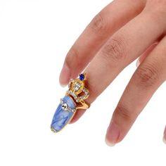 New Rhinestone The Nail Jewelry Finger Rings 3D Rhinestone Sticker Nail Decoration Decal