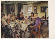 Paintings with Eating People. Collection / от RussianSoulVintage
