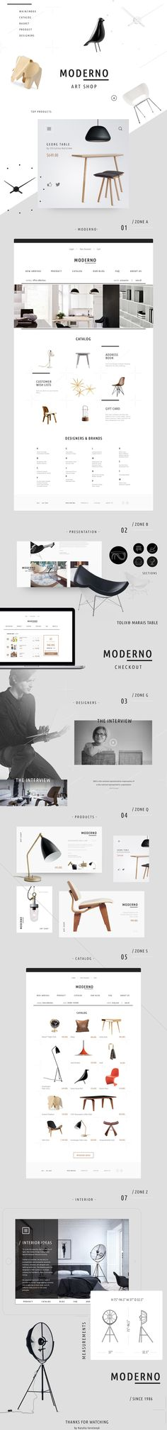 MODERNO / e-commerce on Behance
